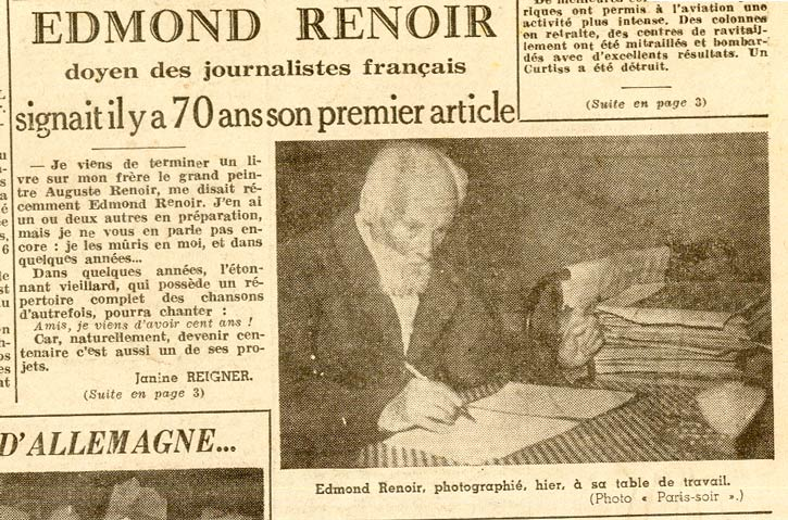 Edmond-Victor Renoir, journal