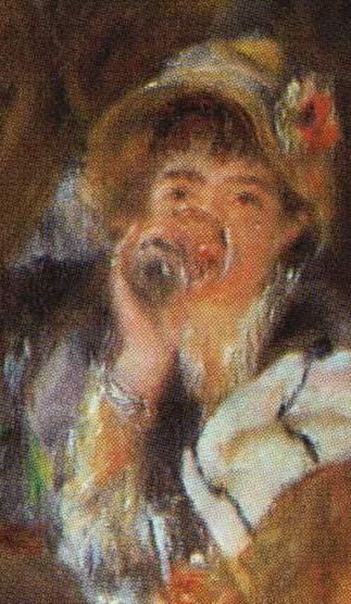 Le Déjeuner des canotiers (detail of Ellen Andrée)