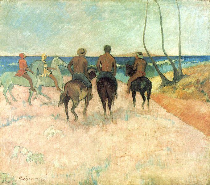Cavaliers sur la plage (1902-Essen)