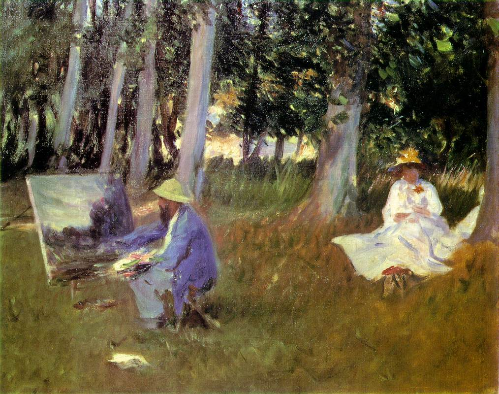 Claude Monet Painting by the Edge of a Wood (1885)