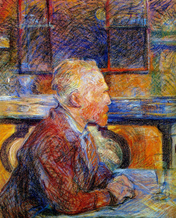 Portrait of Vincent van Gogh by Toulouse-Lautrec (1887)