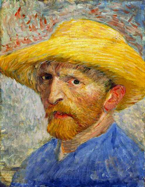Self-Portrait with a Straw Hat (1887-Detroit)