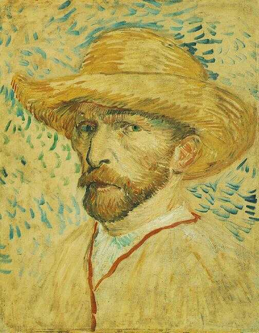Self-Portrait with a Straw Hat (1887-F 469, JH 1310)