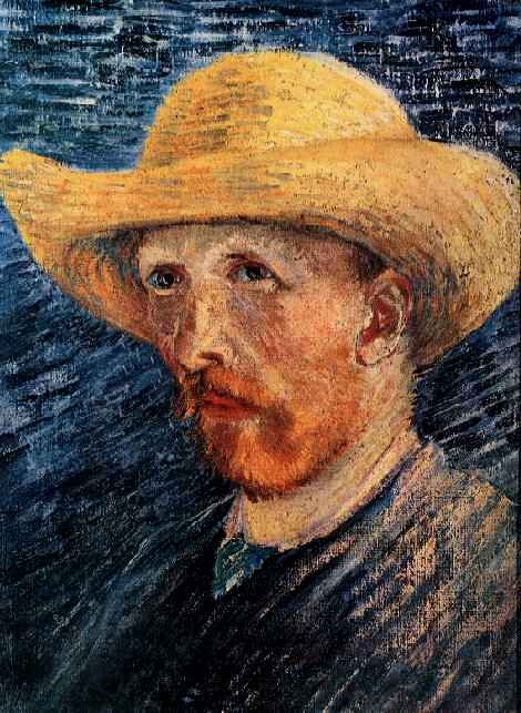 Self-Portrait with a Straw Hat (1887-F 61v, JH 1302)