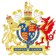 Coat of Arms of England (1558-1603)