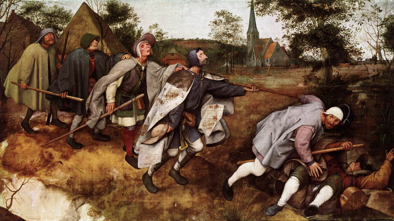 The Parable of the Blind Leading the Blind (1568)