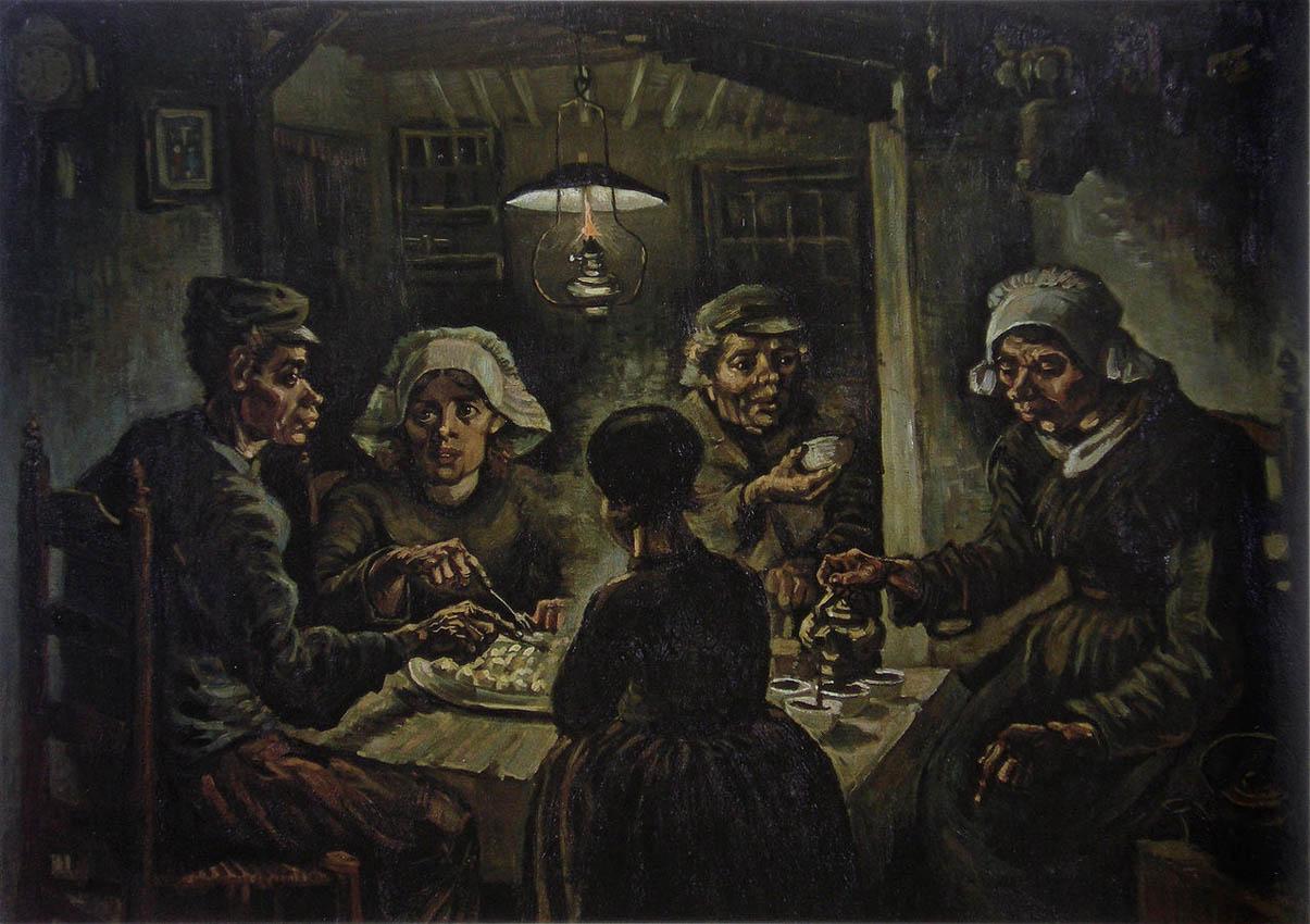 The Potato Eaters (1885, F 82-JH 764)
