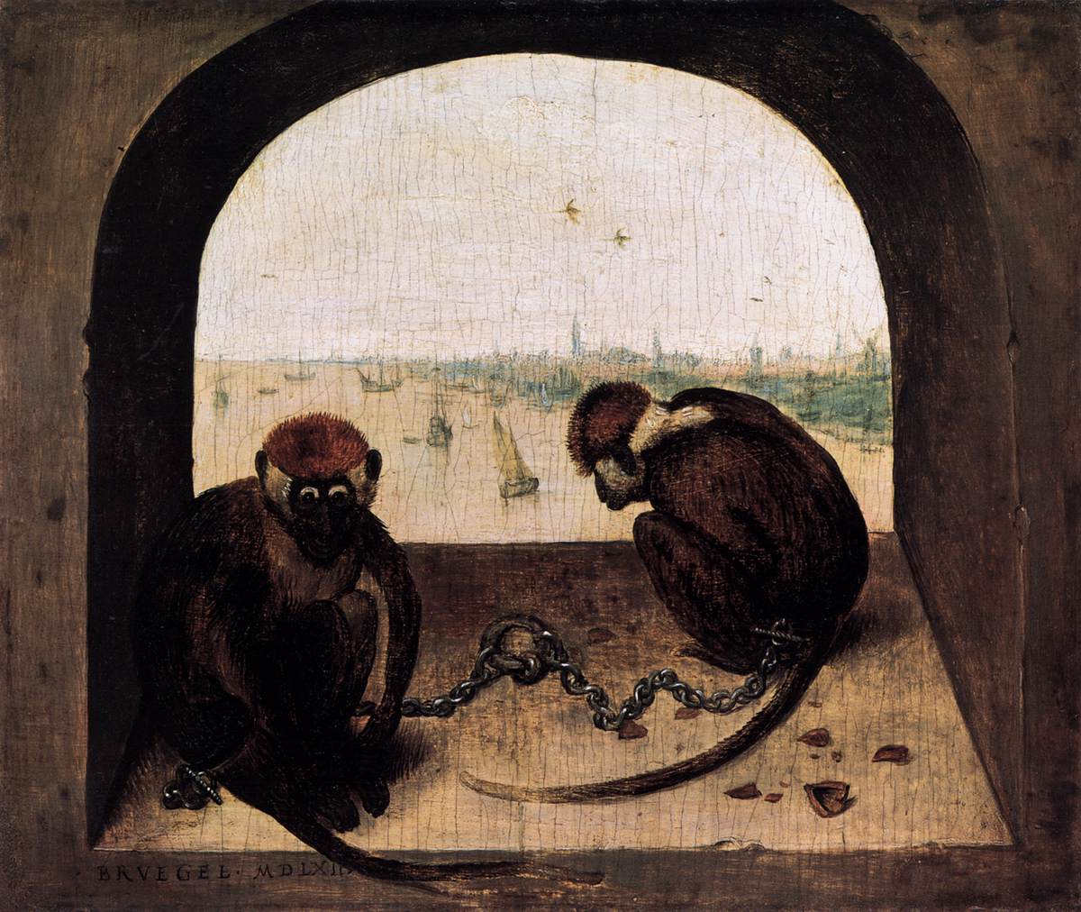 Two Chained Monkeys (1562)