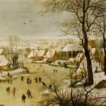 Winter Landscape with a Bird Trap (1565)