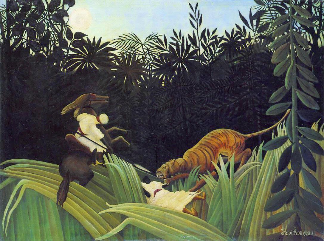 Éclaireurs attaqués par un tigre (1904)