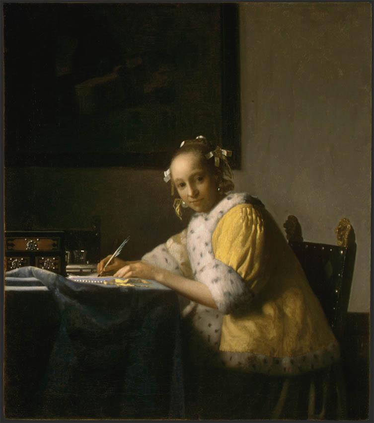 A Lady writing (c. 1665)