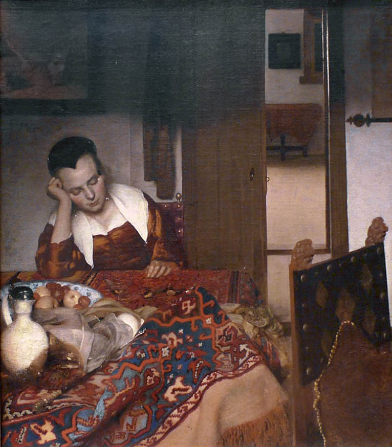A Maid Asleep (1656-1657)