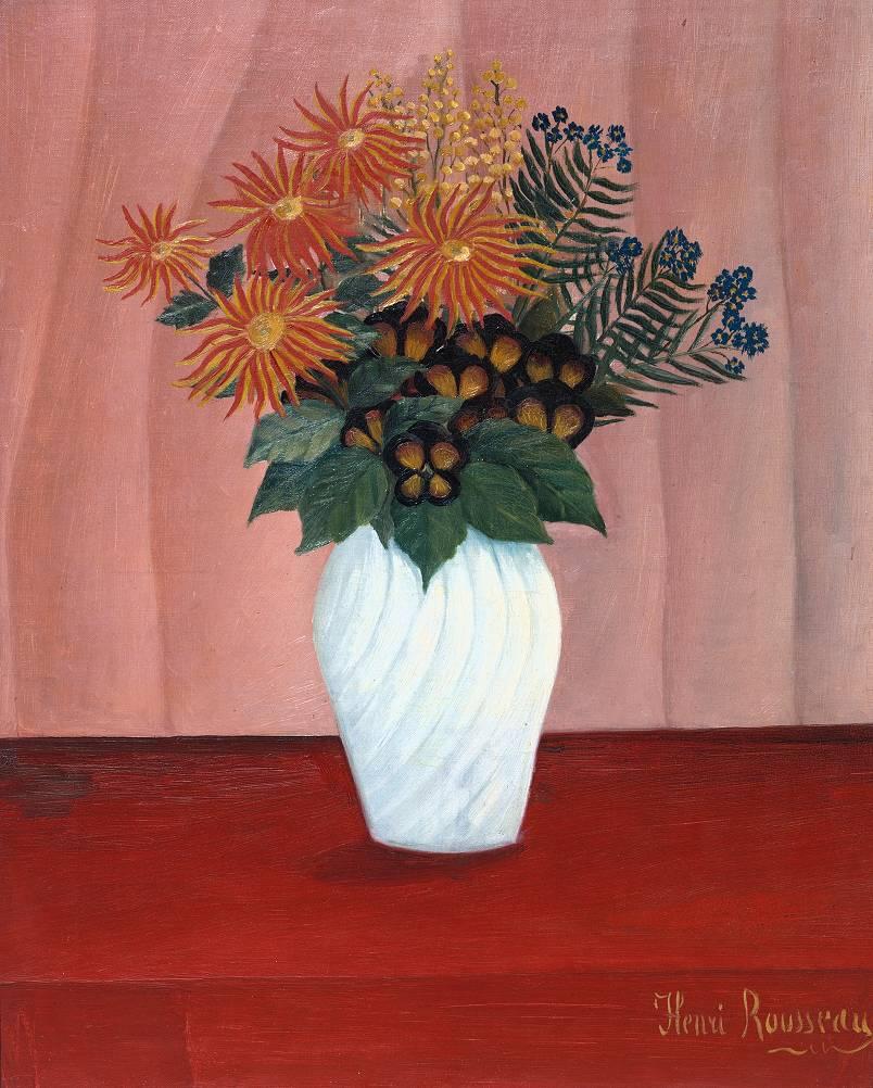 Bouquet of Flowers circa 1909-10 by Henri Rousseau (`Le Douanier') 1844-1910