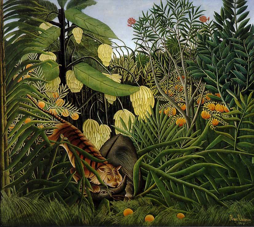 Combat de tigre et buffle (1908)
