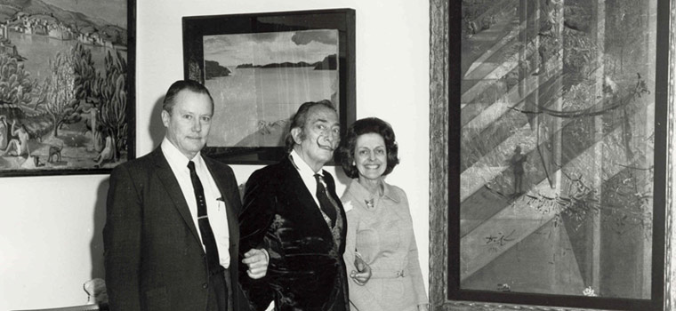 Dalí with Reynolds and Eleanor Morse