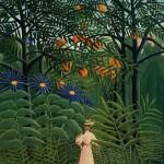 Femme se promenant dans un forêt exotique (1905)