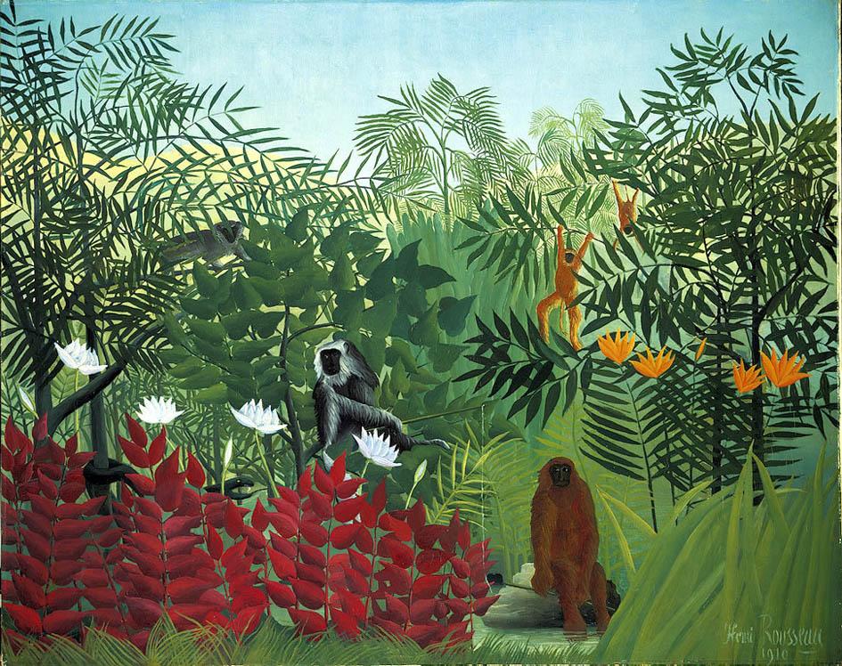 Forêt tropicale avec singes (1910)