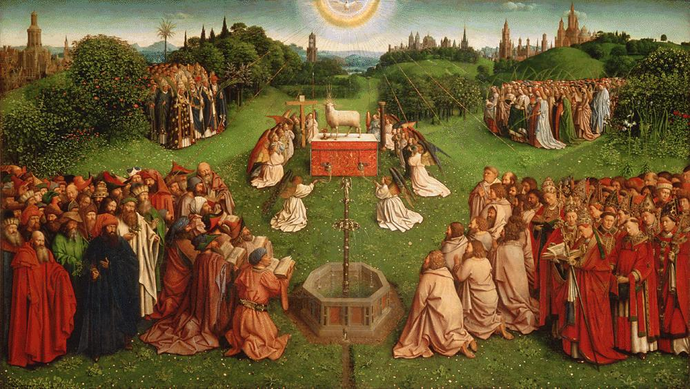 Ghent altarpiece (Adoration of the Mystic Lamb)