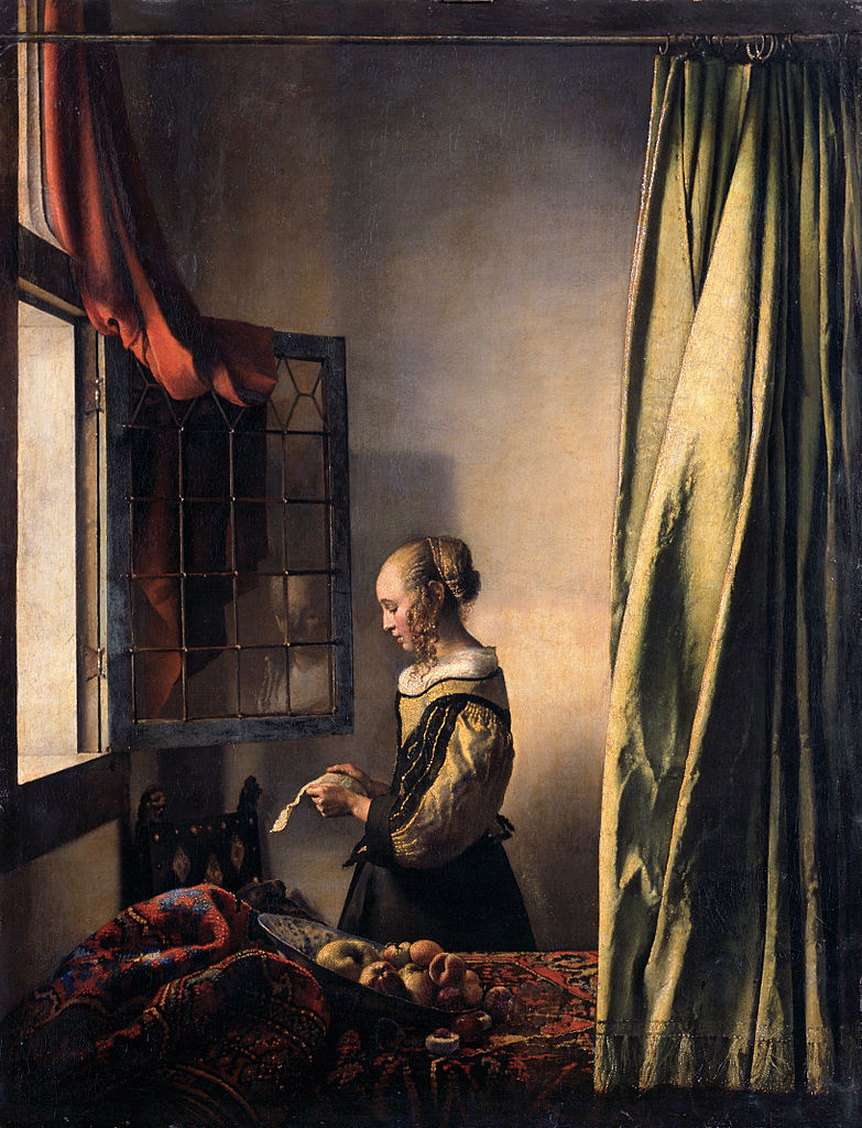Girl Reading a Letter at an Open Window (c. 1659)