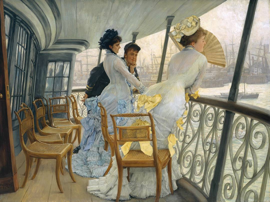 The Gallery of HMS Calcutta (Portsmouth) circa 1876 by James Tissot 1836-1902