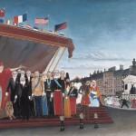 Les représentants des puissances étrangères venant saluer la République en signe de paix (1907)