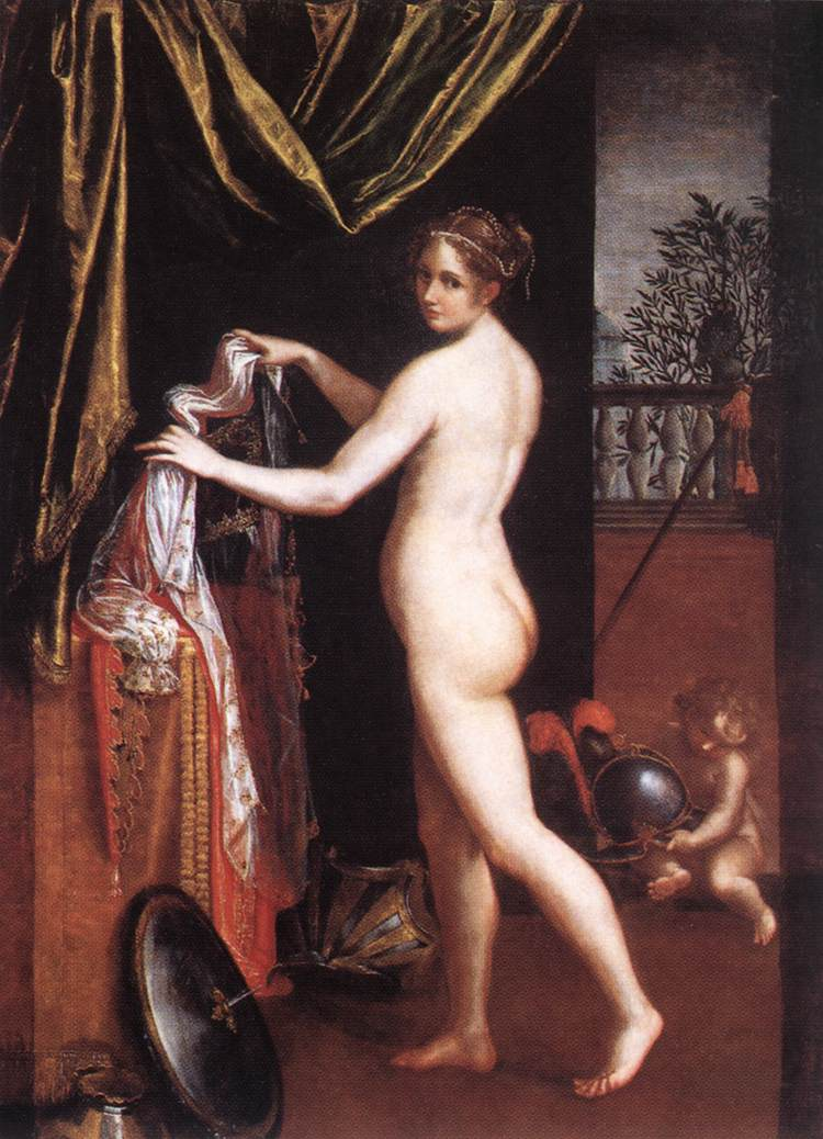 Minerva in atto di abbigliarsi (1613)