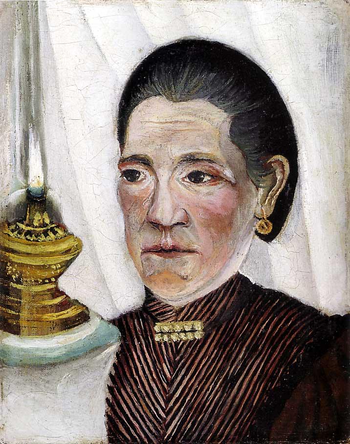 Portrait de la seconde femme de l'Artiste avec une lampe (1903)