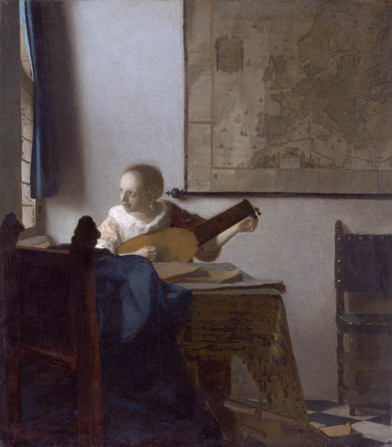Woman with a Lute (1662-1663)