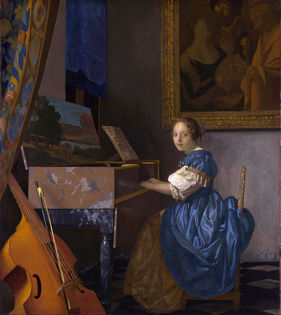 Young Woman Seated at a Virginal (1670-1672)