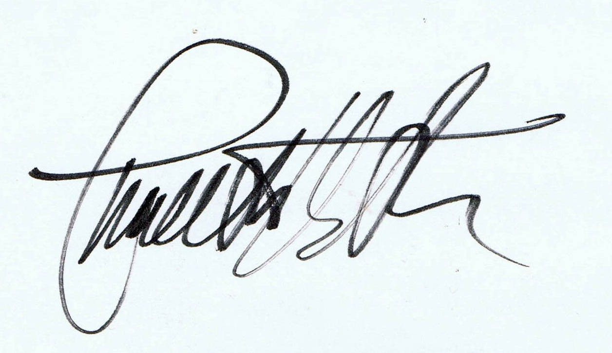 Charlton Heston-signature