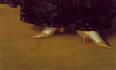 La Duquesa de Alba (1797-detail of shoes)