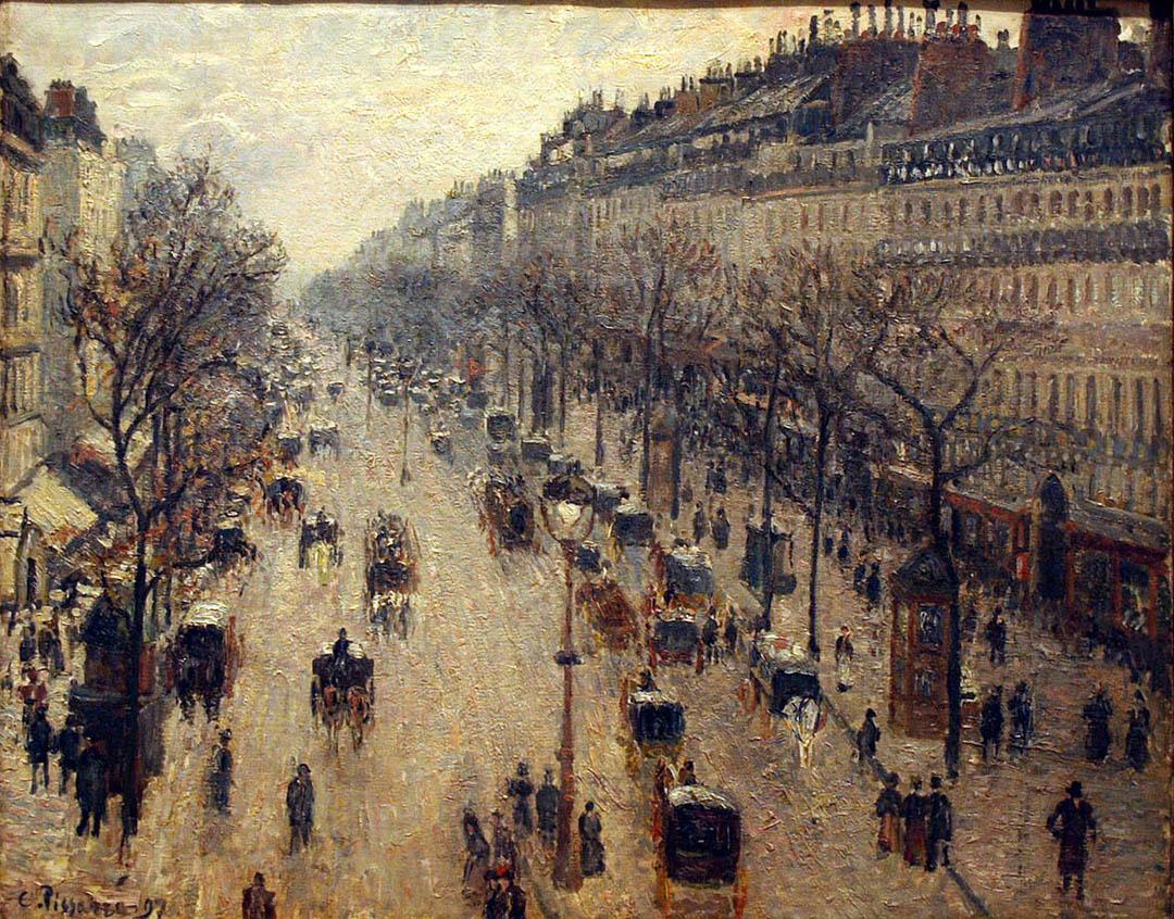 Le Boulevard Montmartre, matin d'hiver (1897)