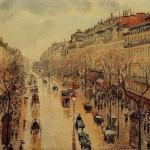 Le Boulevard Montmartre, temps de pluie, apres-midi (1897)