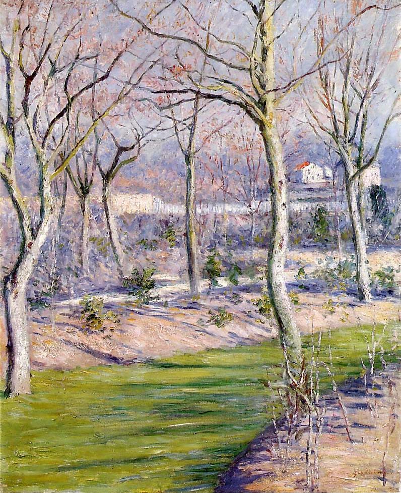 Le jardin du Petit Gennevilliers en hiver (1894)