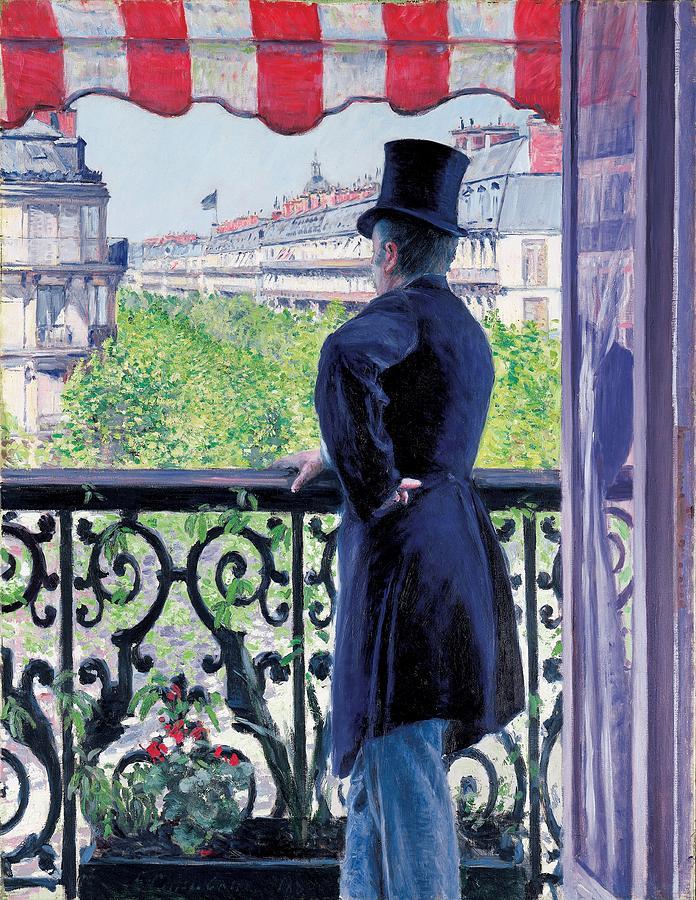 L'homme au balcon, boulevard Haussmann (1880)