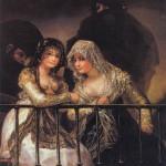 Majas al balcón (1808-1812)