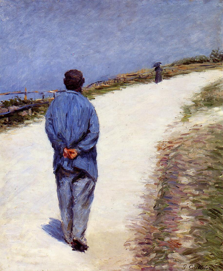 Père Magloire sur la route entre Saint-Clair et Etretat (1884)