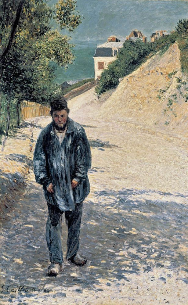 Père Magloire sur le chemin de Saint-Clair à Étretat (1884)