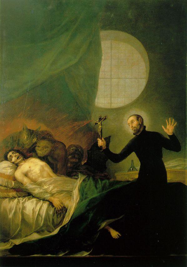 San Francisco de Borja y el moribundo impenitente (1788)