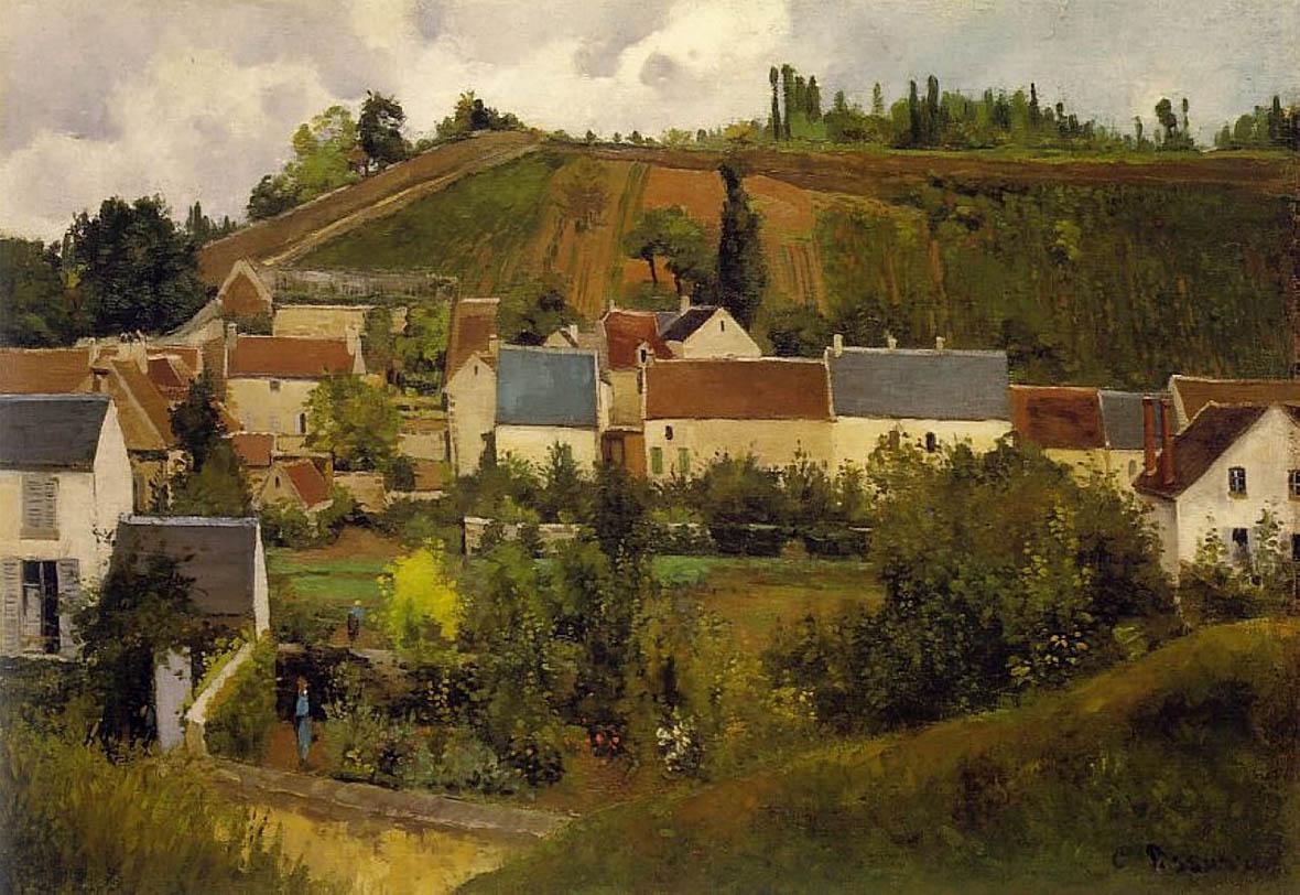 Vue de l'Hermitage, Côte de Jallais, Pontoise (c. 1867)