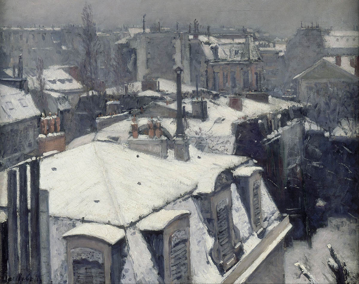 Vue de toits, Effet de neige (1878)