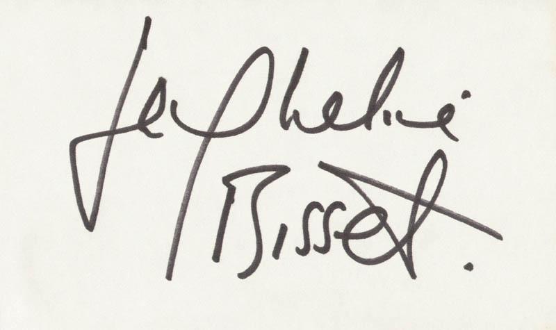 Jacqueline Bisset-signature