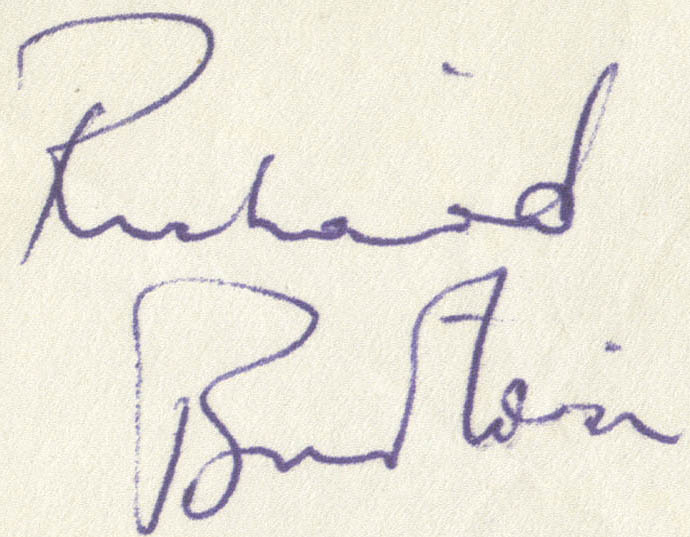 Richard Burton signature
