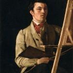 Autoportrait, Corot à son chevalet (1825)