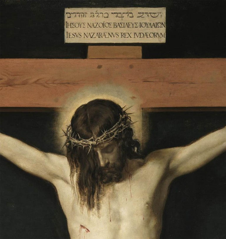 the christ of velazquez poetry visits art essay The donor appears in the lower left at the feet of the crucified christ, hands together in prayer he looks at us out of the corner of his right eye, while the left side of his face is in total shadow the composition alludes to a type of votive portrait that was really very anachronistic in this.