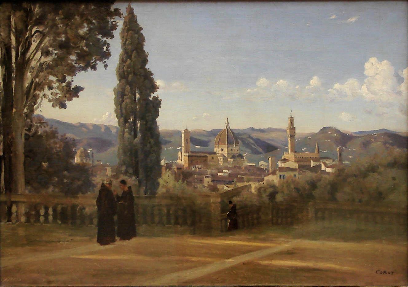 Florence. Vue prise des jardins Boboli (c. 1835-1840)
