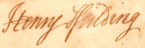 Henry Fielding-signature