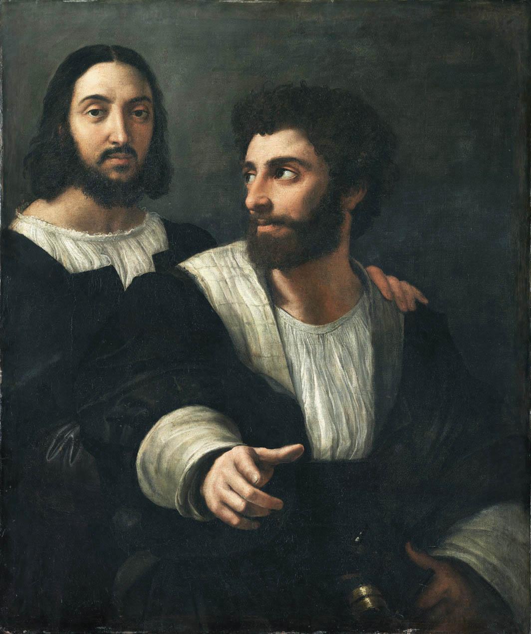 Autoritratto con un amico (1518-1519)