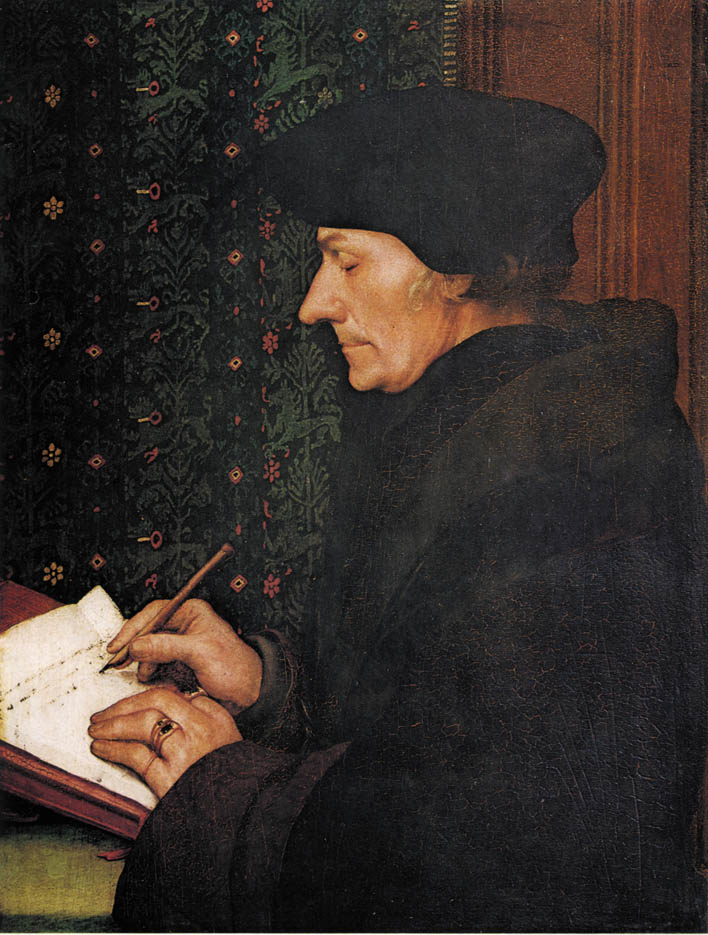 Erasmus writing (1523)