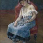 Jeune fille endormie au chat (1880)